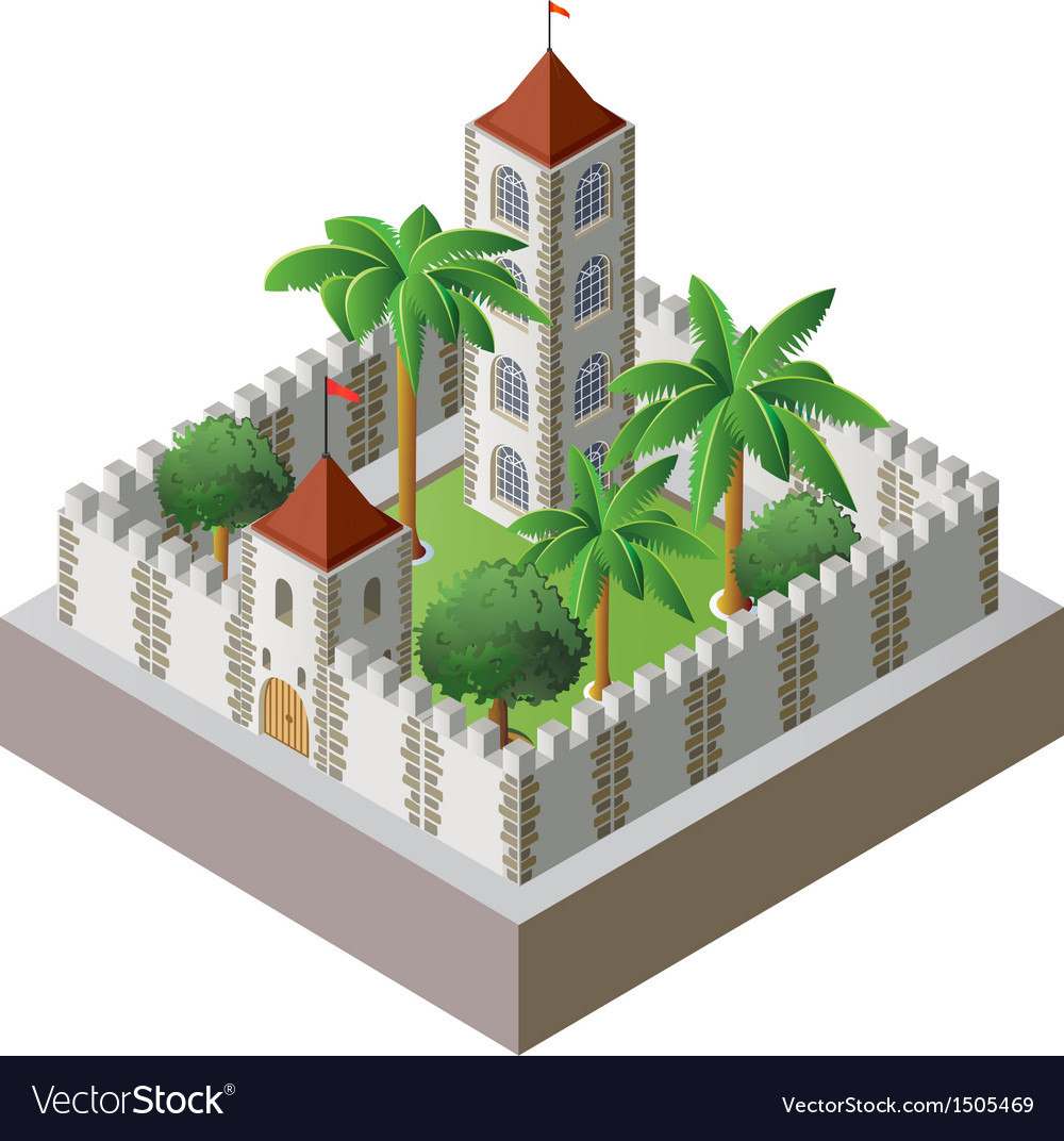 Isometric fortress vector | Price: 1 Credit (USD $1)