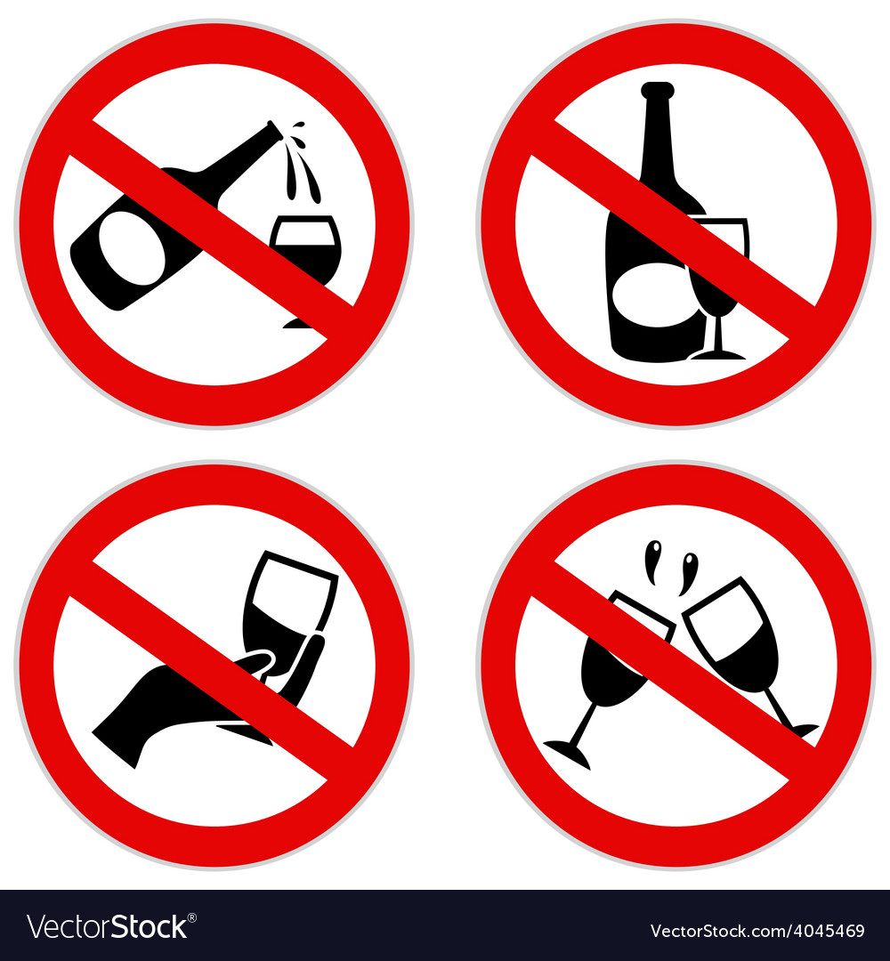 No alcohol symbol vector | Price: 1 Credit (USD $1)