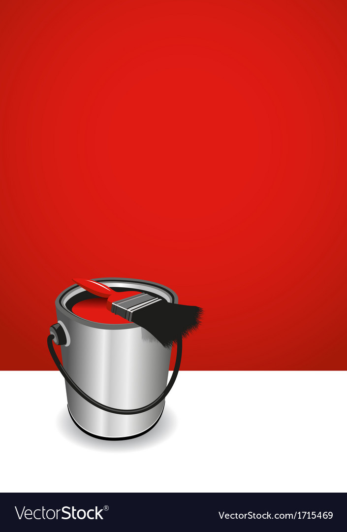 Red paint pot background vector | Price: 1 Credit (USD $1)