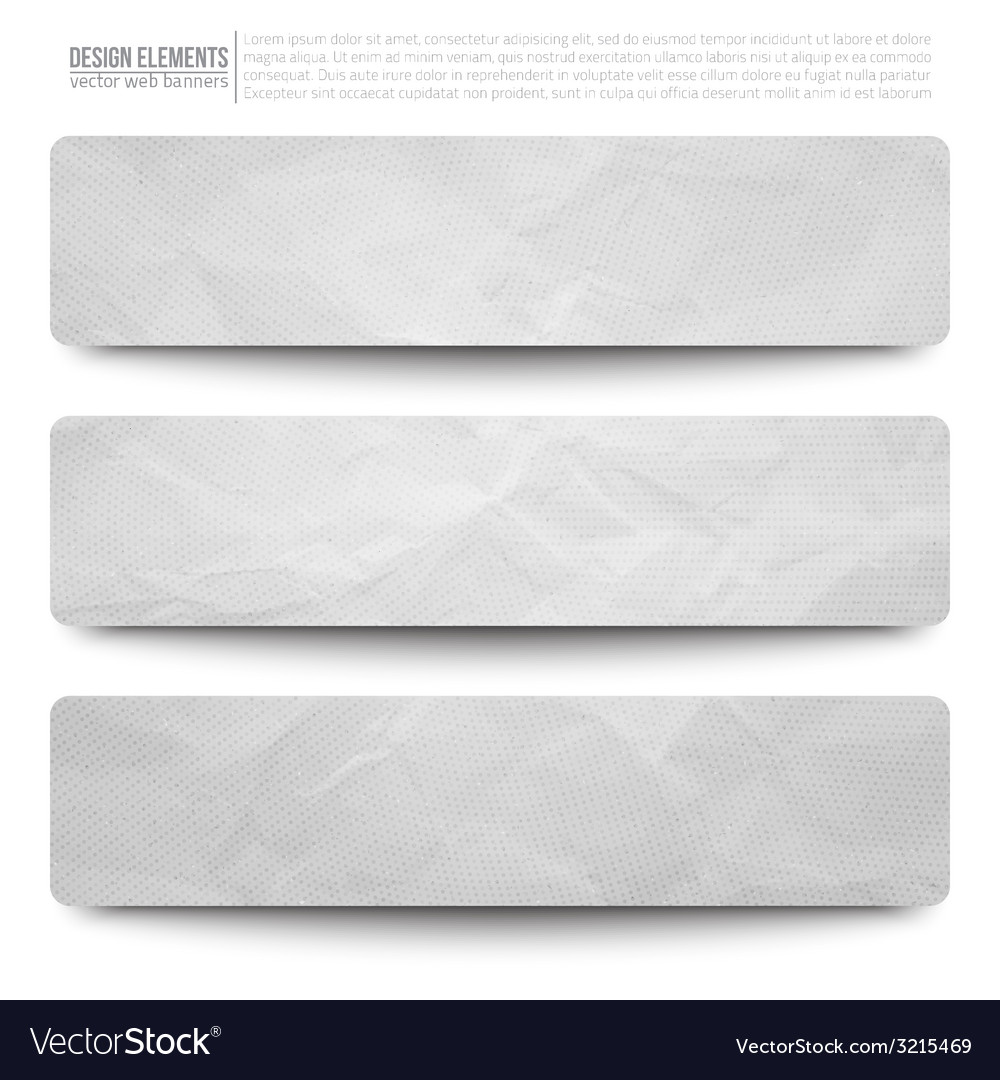 Web paper banners vector