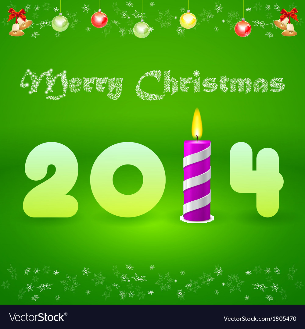 Christmas card with the inscription 2014 and vector | Price: 1 Credit (USD $1)