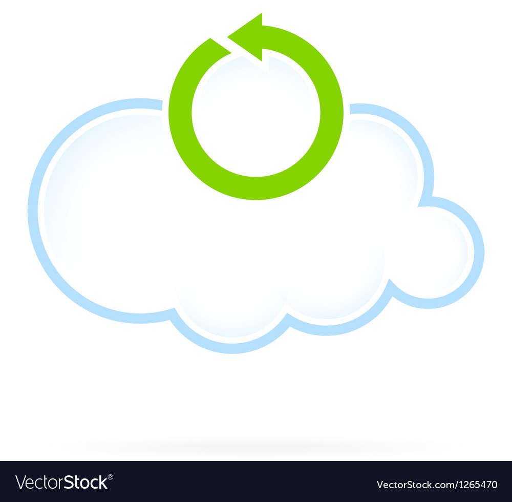 Cloud computing icon reload vector | Price: 1 Credit (USD $1)