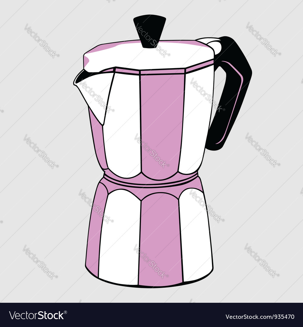 Coffeepot vector | Price: 1 Credit (USD $1)