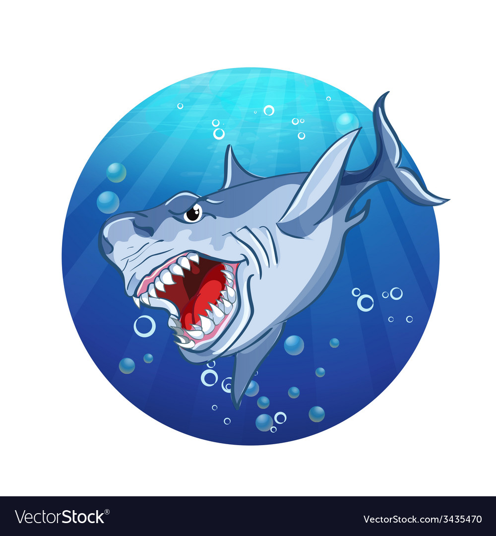 Images evil shark vector | Price: 1 Credit (USD $1)