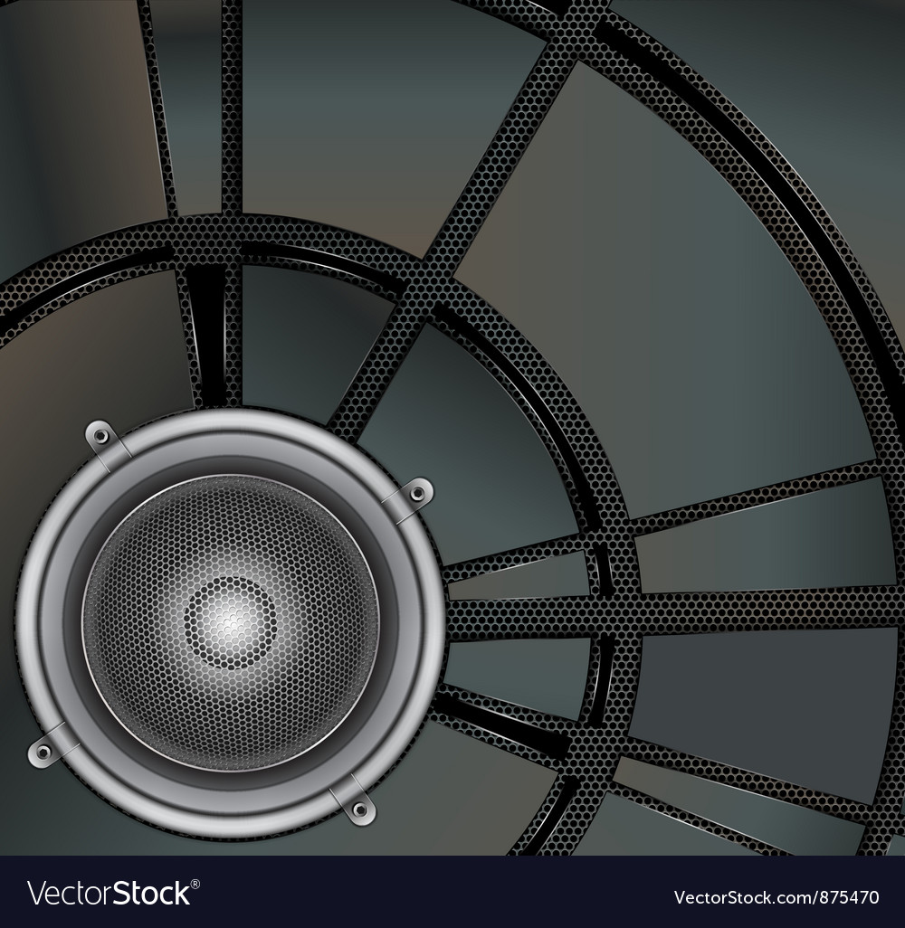 Loud speaker on a metallic background vector | Price: 1 Credit (USD $1)