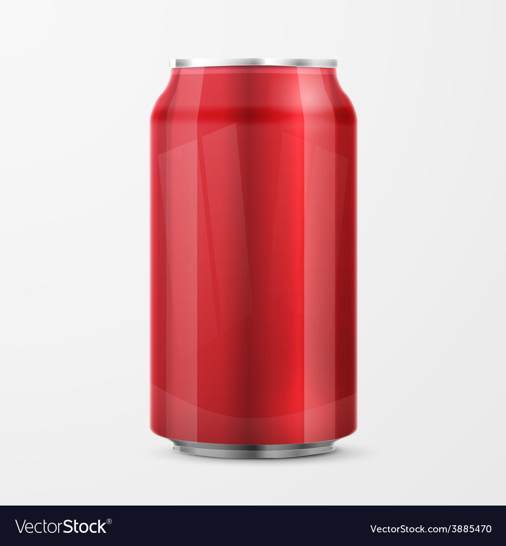 Red aluminium can vector | Price: 1 Credit (USD $1)