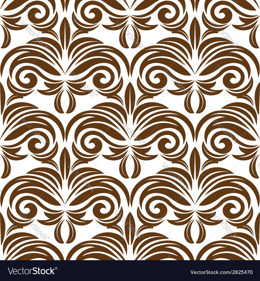 Retro brown floral seamless pattern vector   Price: 1 Credit (USD $1)