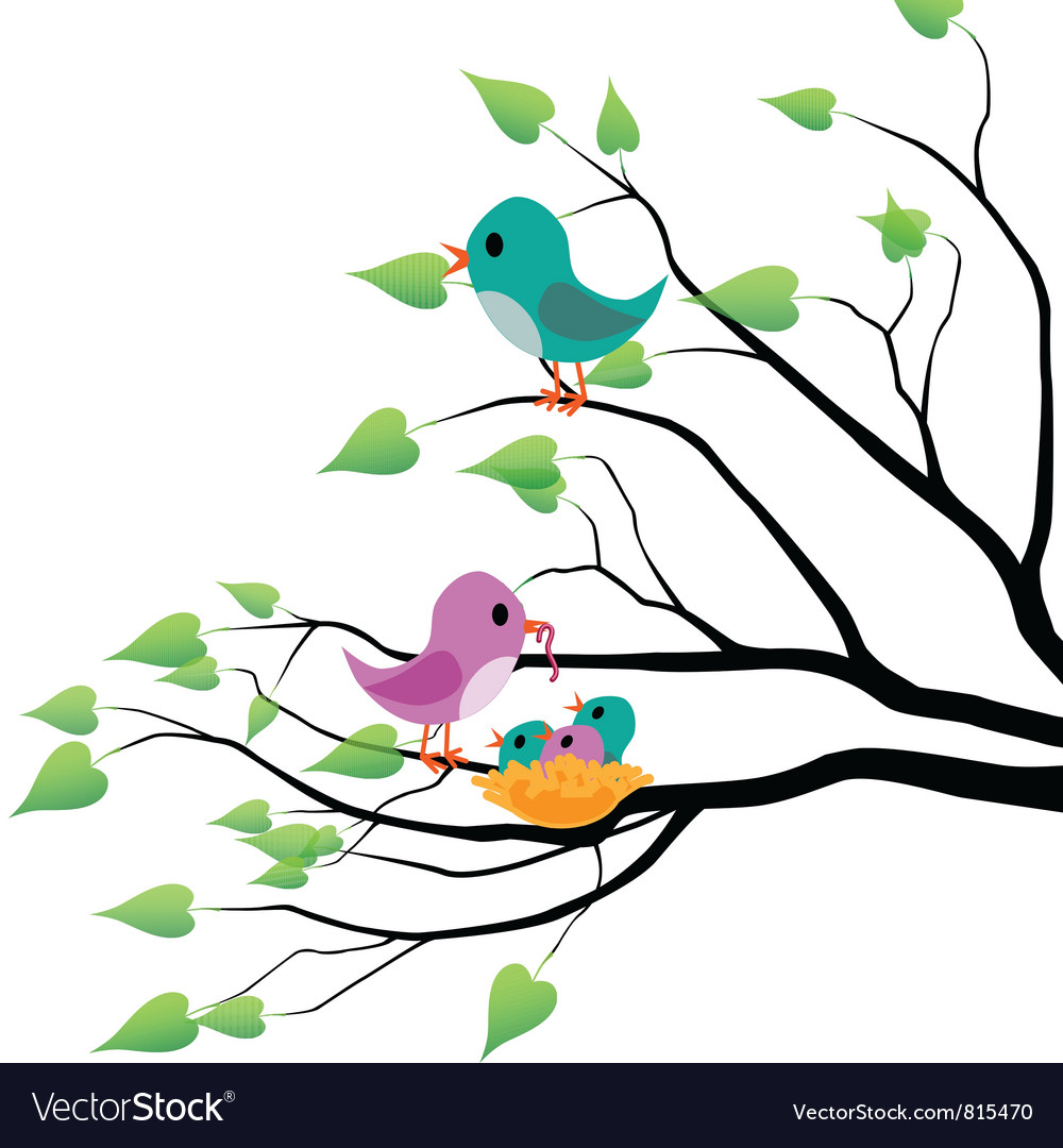 Spring birds vector | Price: 1 Credit (USD $1)