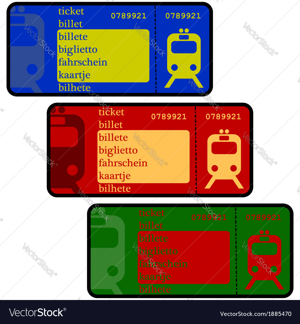 Train tickets vector | Price: 1 Credit (USD $1)