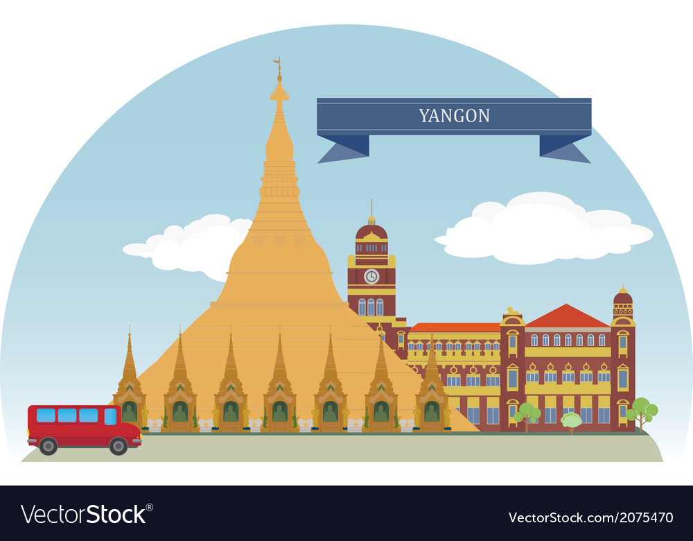 Yangon vector | Price: 1 Credit (USD $1)