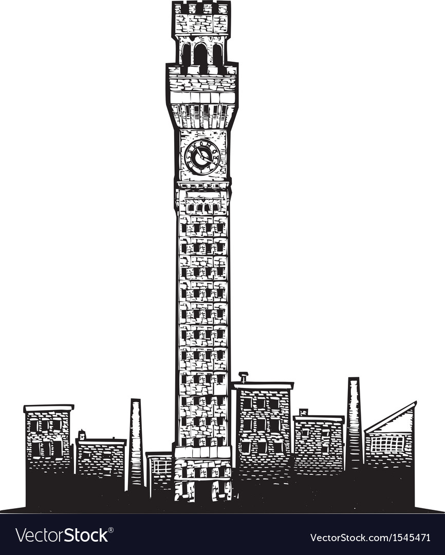 Baltimore tower vector | Price: 1 Credit (USD $1)