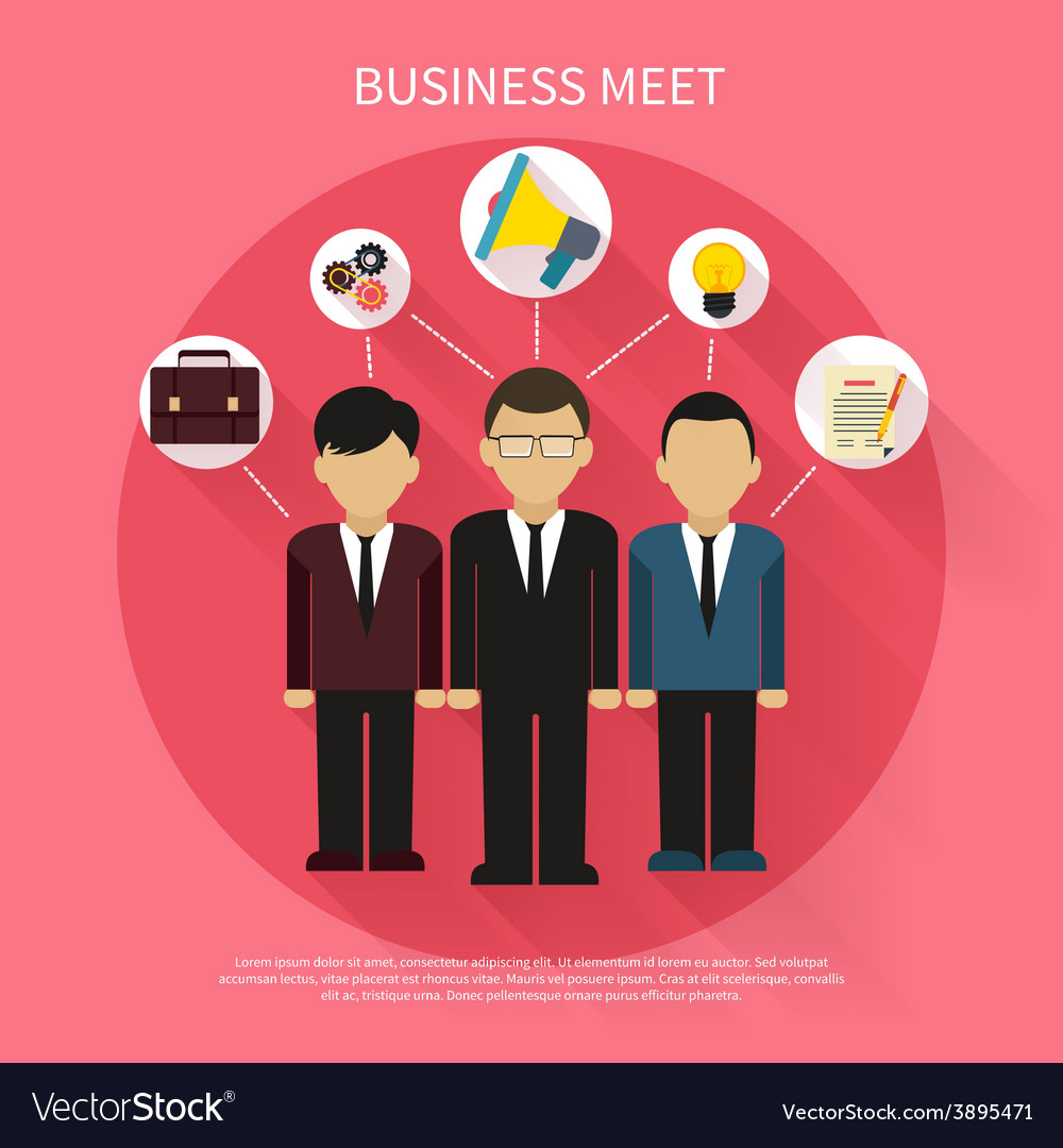 Business people on meet vector | Price: 1 Credit (USD $1)