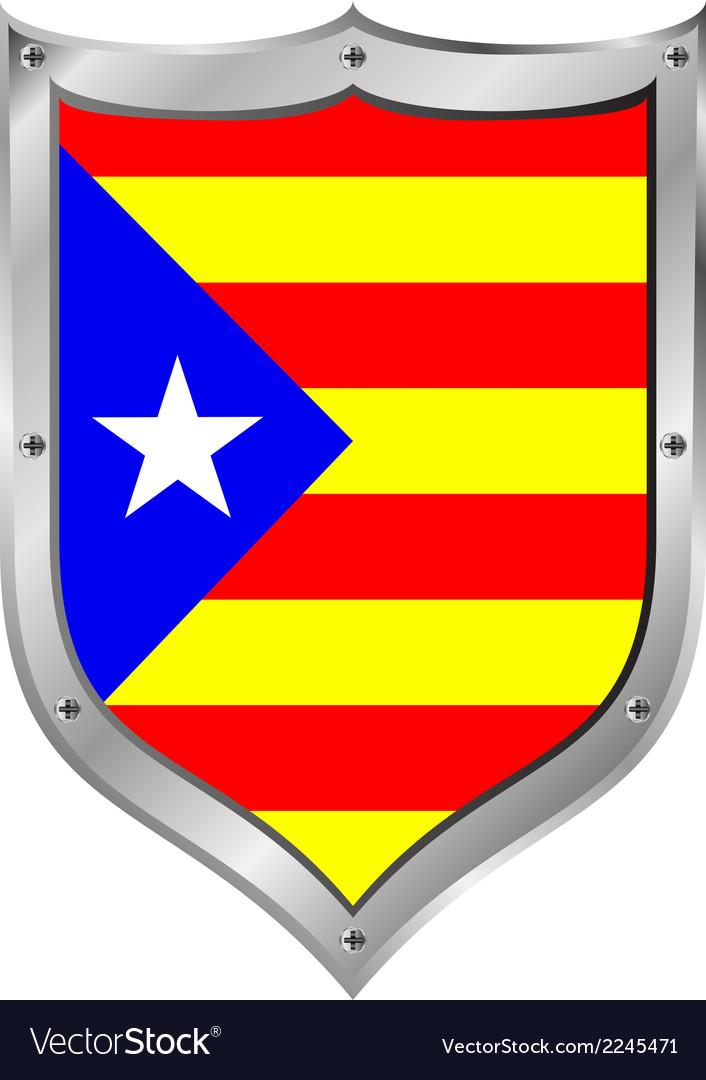 Catalonia flag button vector | Price: 1 Credit (USD $1)