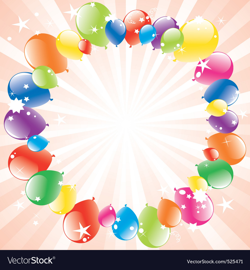festive balloons and lightburst vector | Price: 1 Credit (USD $1)