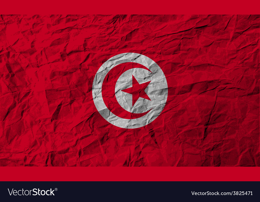 Flag of tunisia with old texture vector | Price: 1 Credit (USD $1)