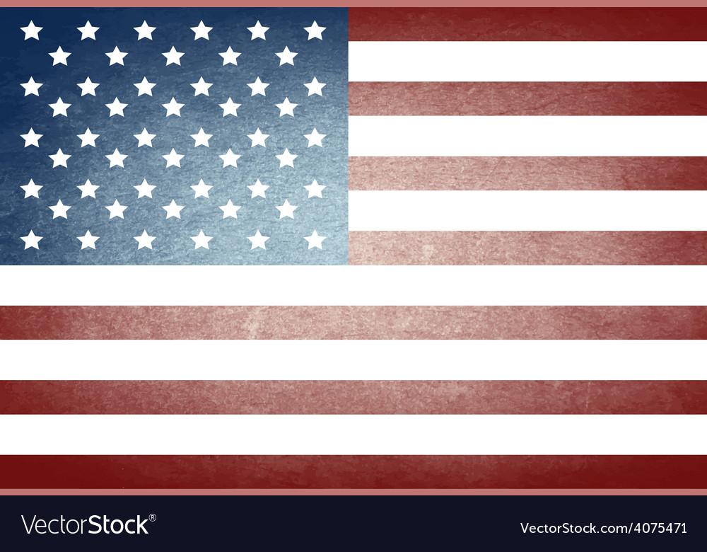 Grunge american flag vector   Price: 1 Credit (USD $1)