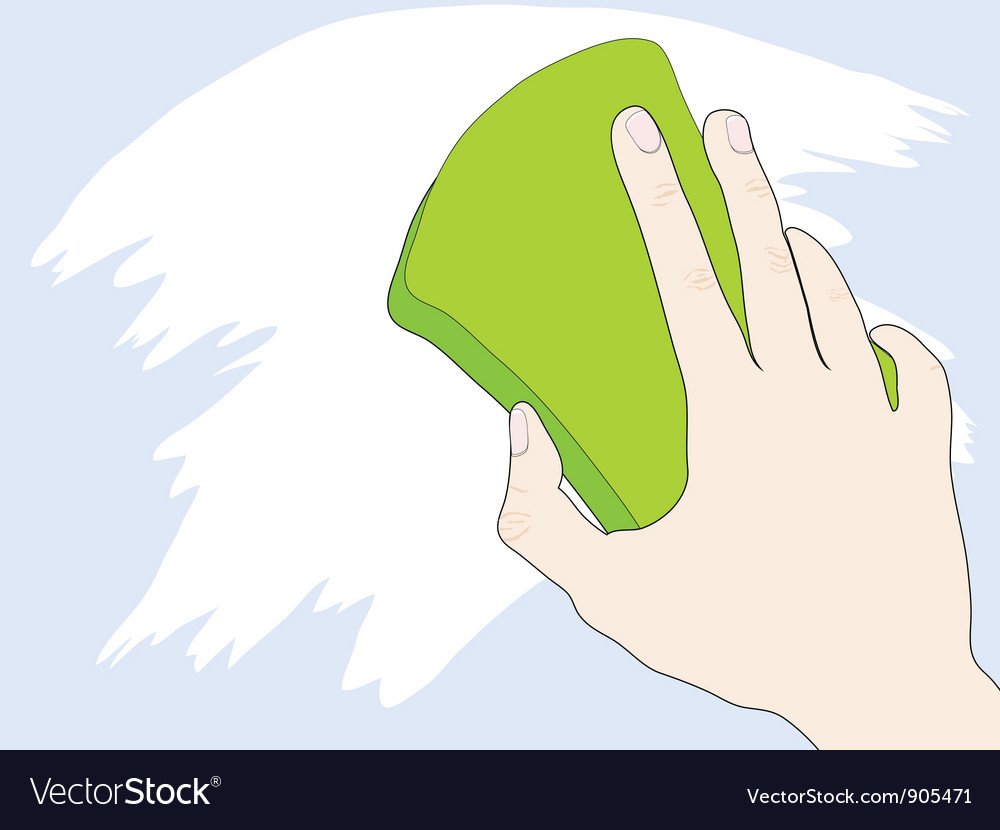 Hand with sponge vector | Price: 1 Credit (USD $1)