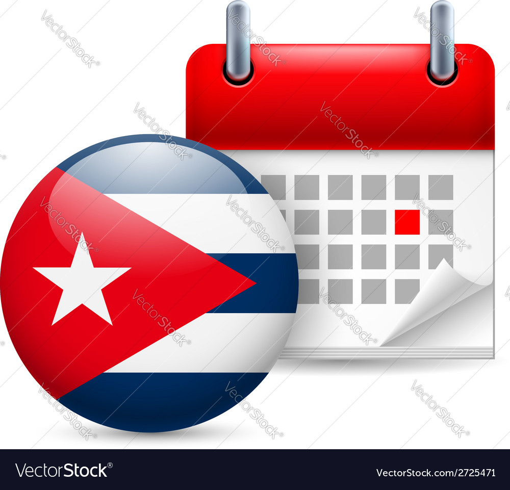 Icon of national day in cuba vector | Price: 1 Credit (USD $1)