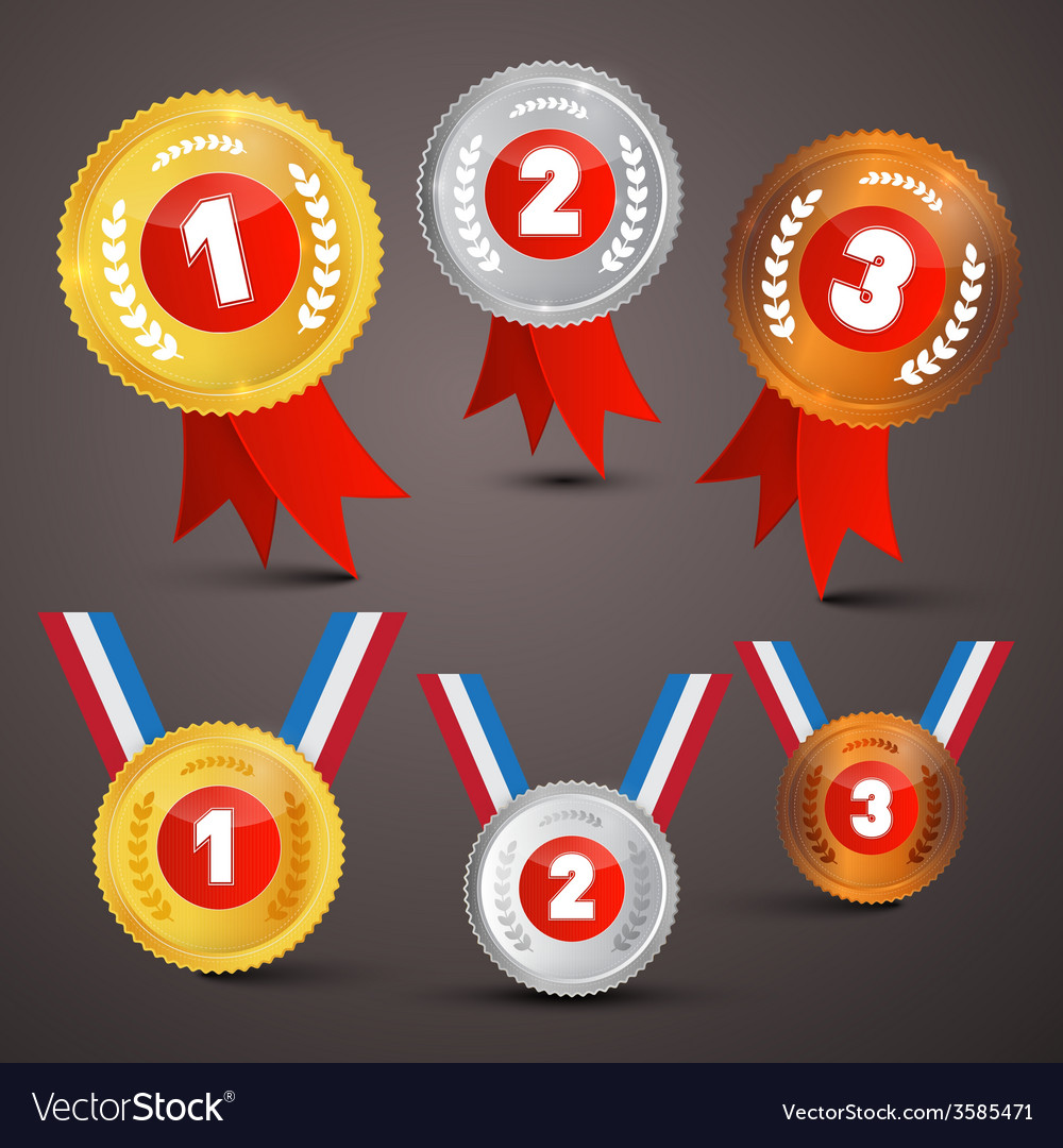 Medals awards set vector | Price: 1 Credit (USD $1)
