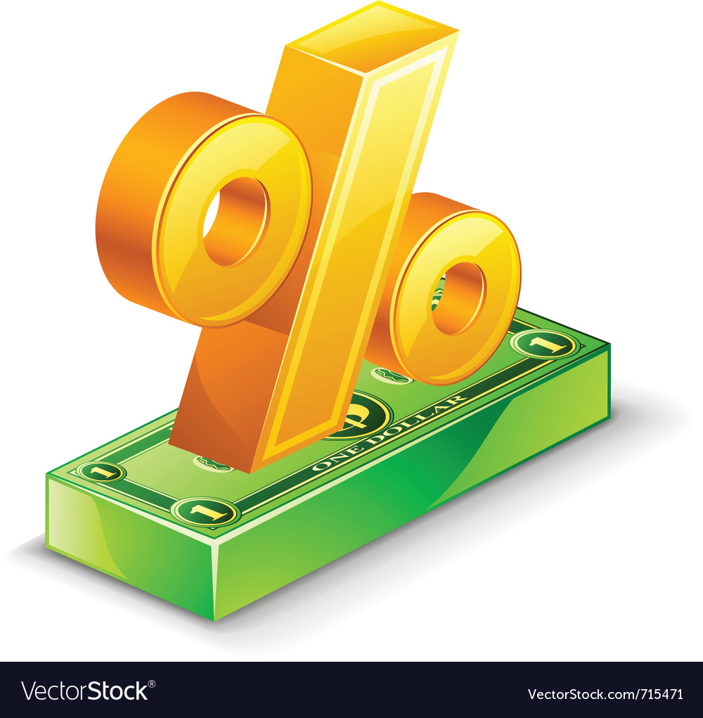 Percentage sign vector   Price: 3 Credit (USD $3)