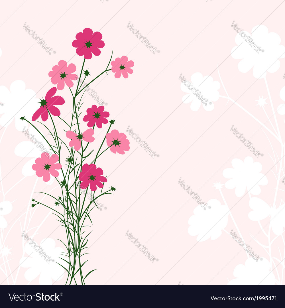 Springtime colorful flower vector   Price: 1 Credit (USD $1)