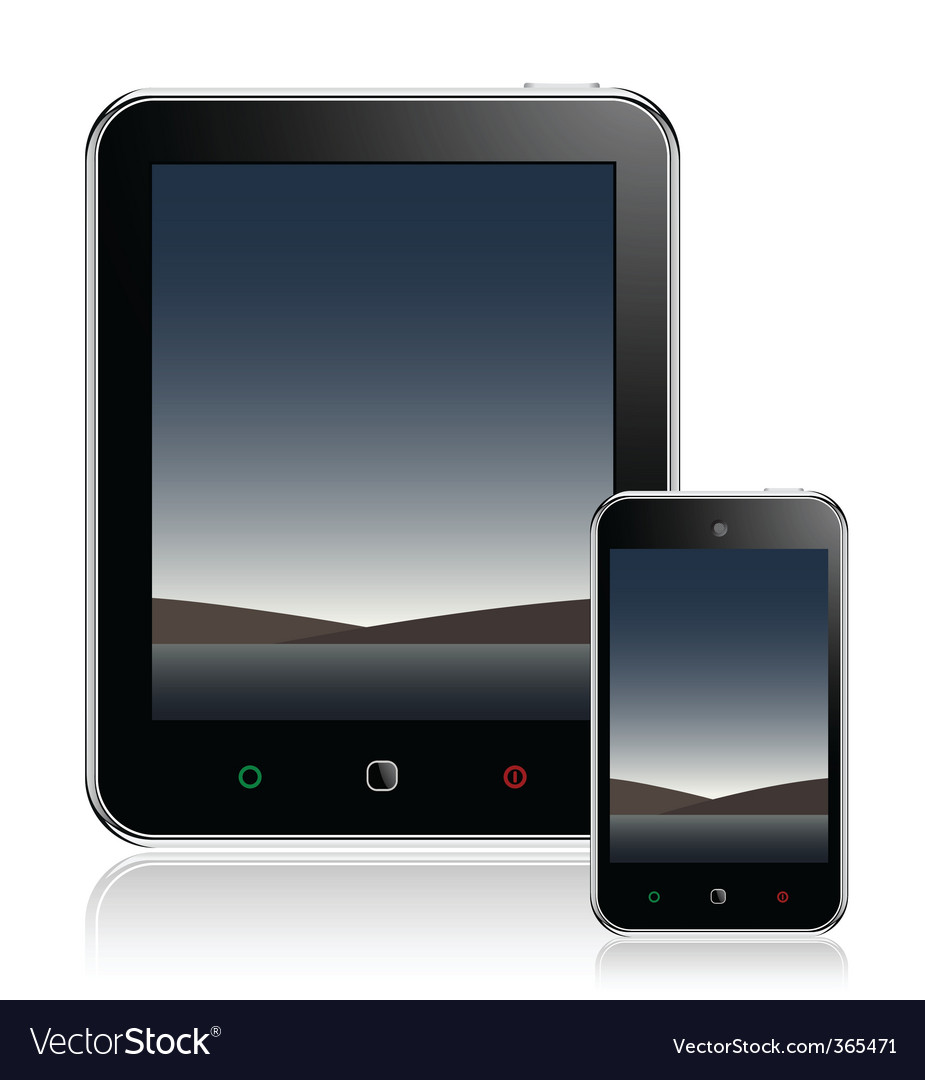 Tablet computer mobile phone vector | Price: 3 Credit (USD $3)