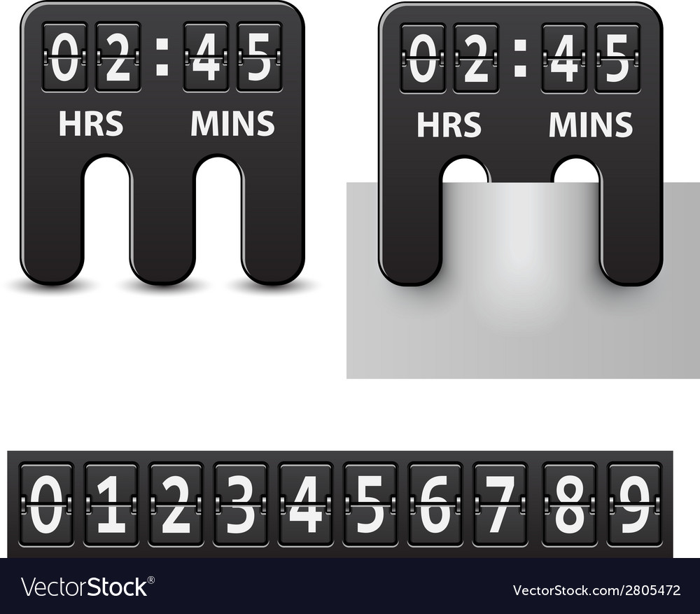 Countdown attached mechanical timer vector | Price: 1 Credit (USD $1)