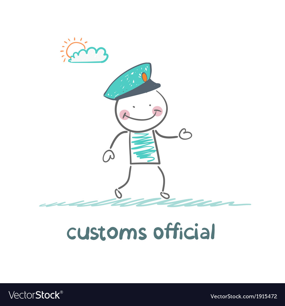 Customs officer goes to work vector | Price: 1 Credit (USD $1)