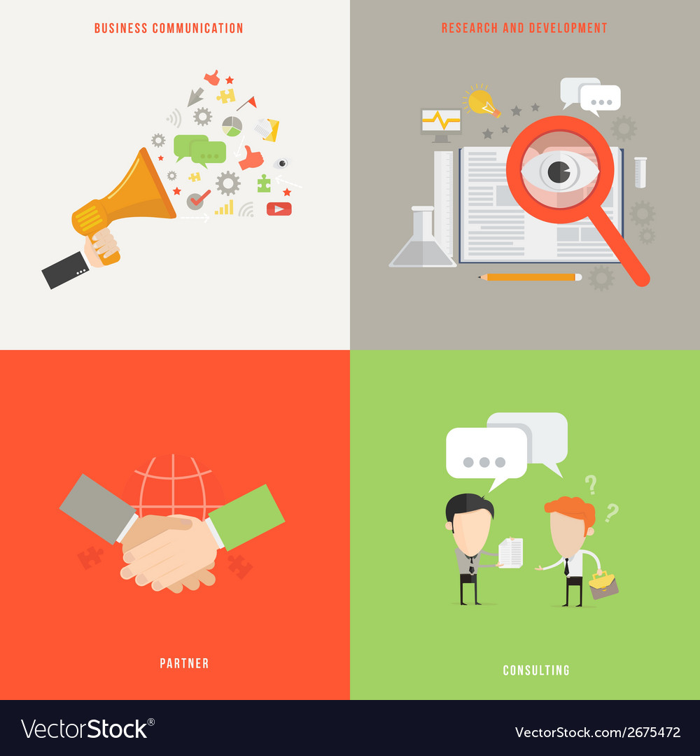 Element of business communication consult partner vector | Price: 1 Credit (USD $1)