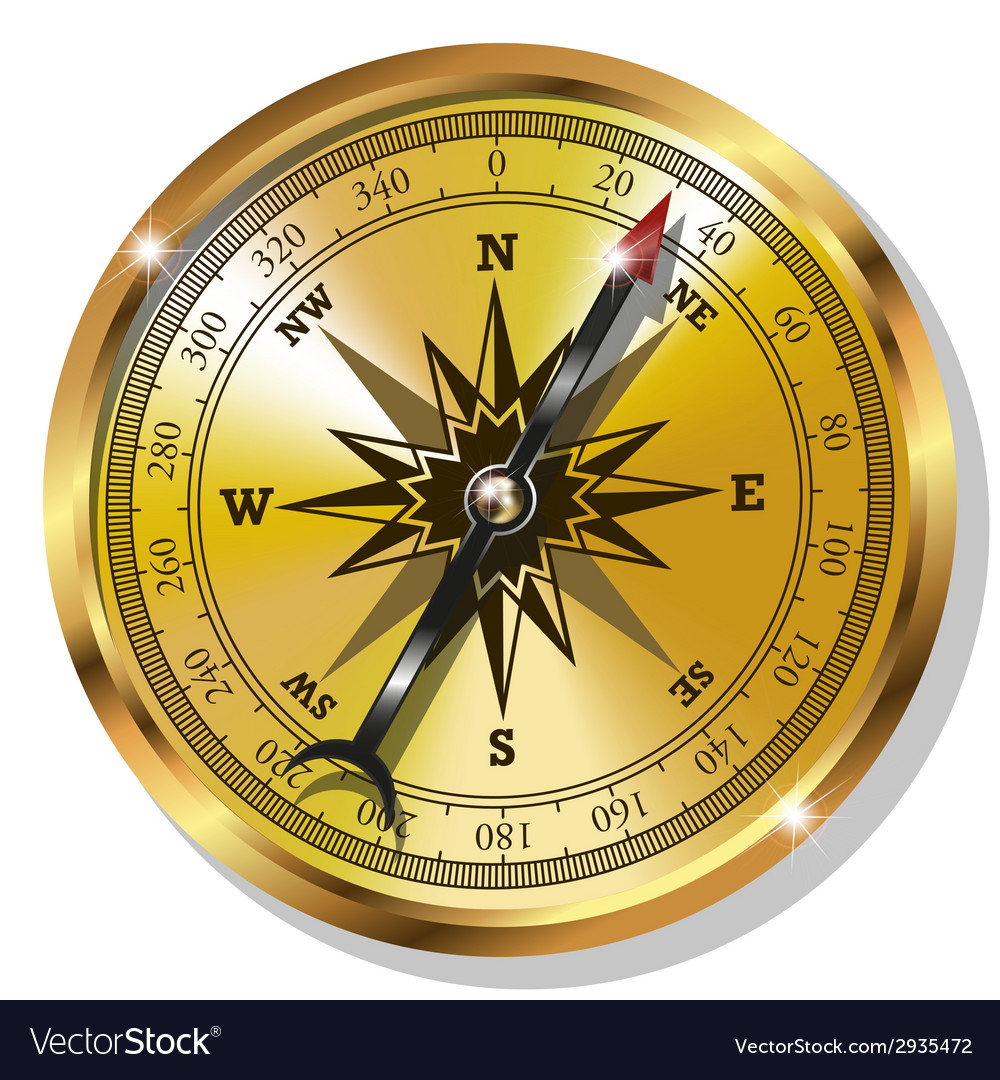 Golden compass vector | Price: 1 Credit (USD $1)