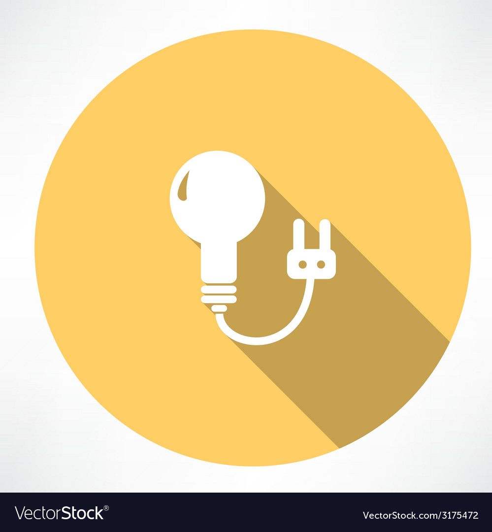 Lamp with charging icon vector | Price: 1 Credit (USD $1)
