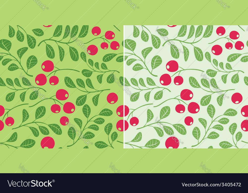 Light green pattern with berries - seamless vector | Price: 1 Credit (USD $1)