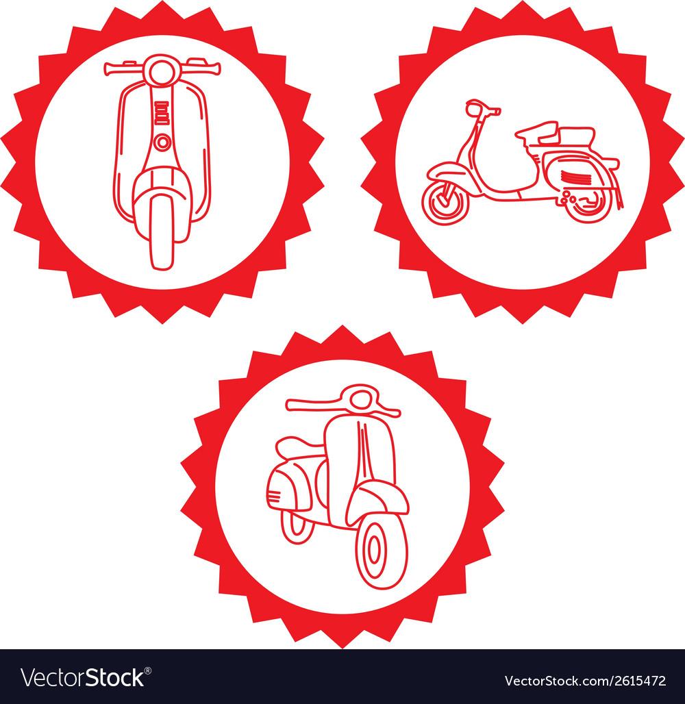 Motorbike design elements vector | Price: 1 Credit (USD $1)