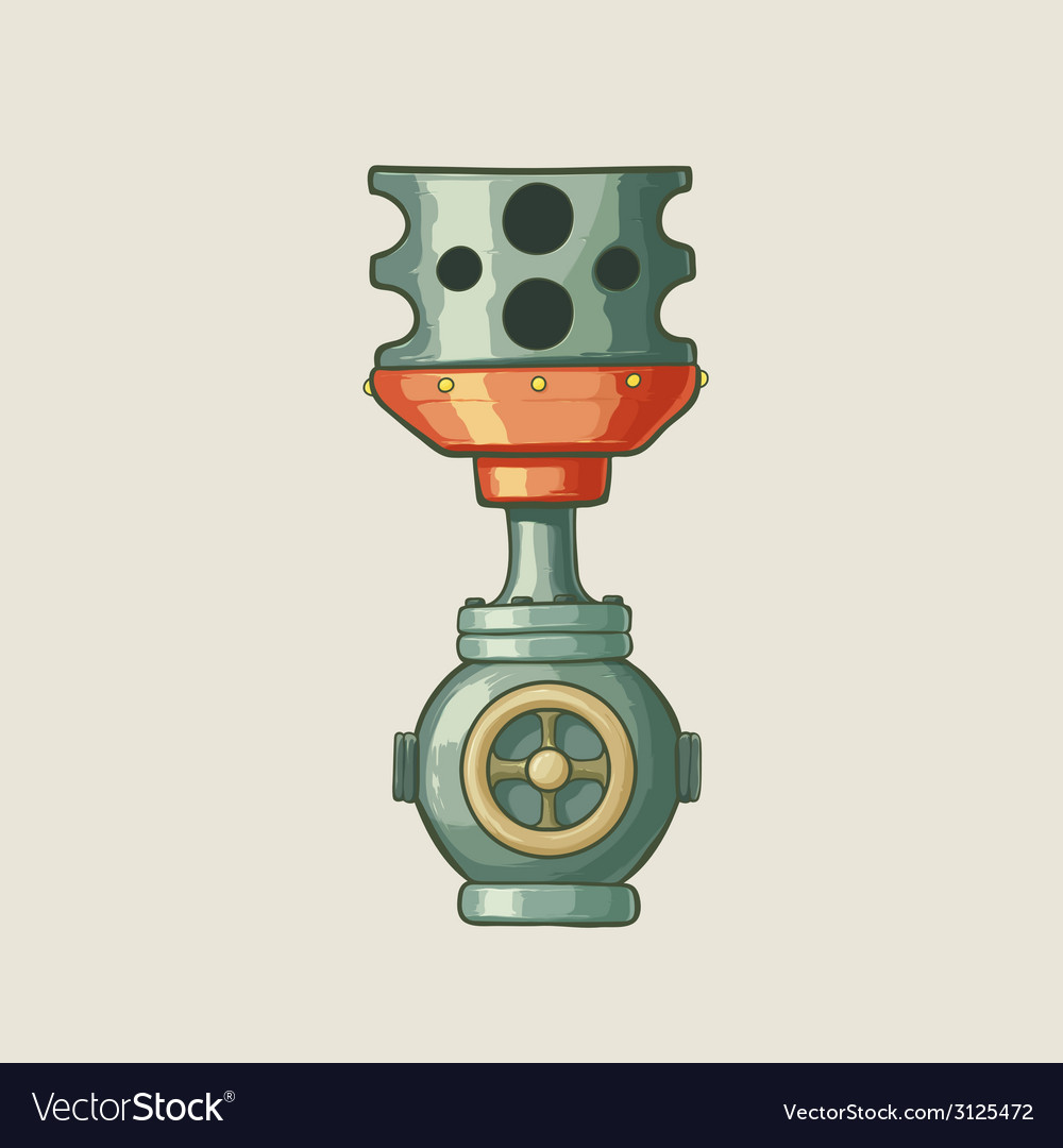 Original of a steampunk styled pipe vector