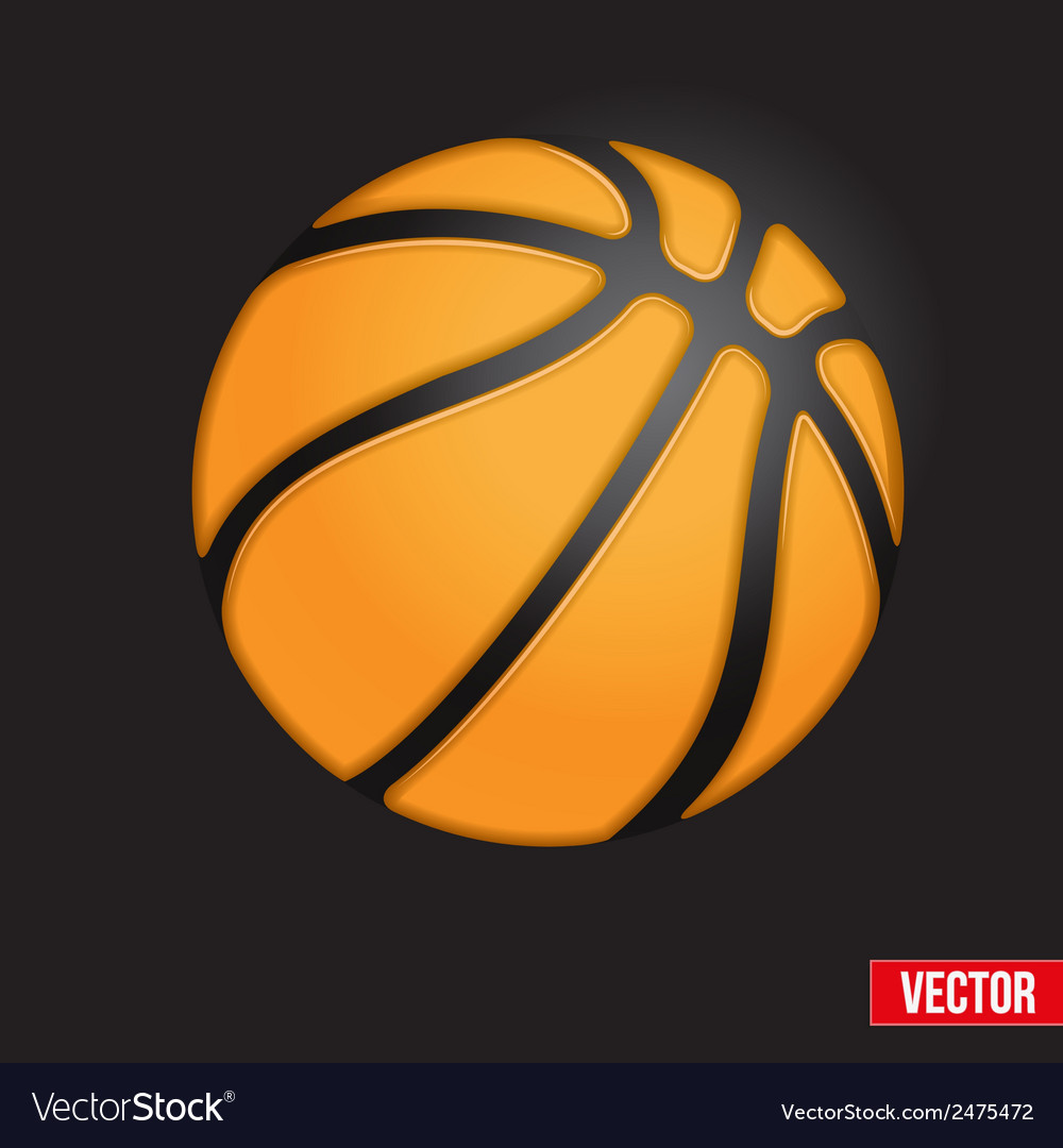 Symbol soft basketball ball vector | Price: 1 Credit (USD $1)