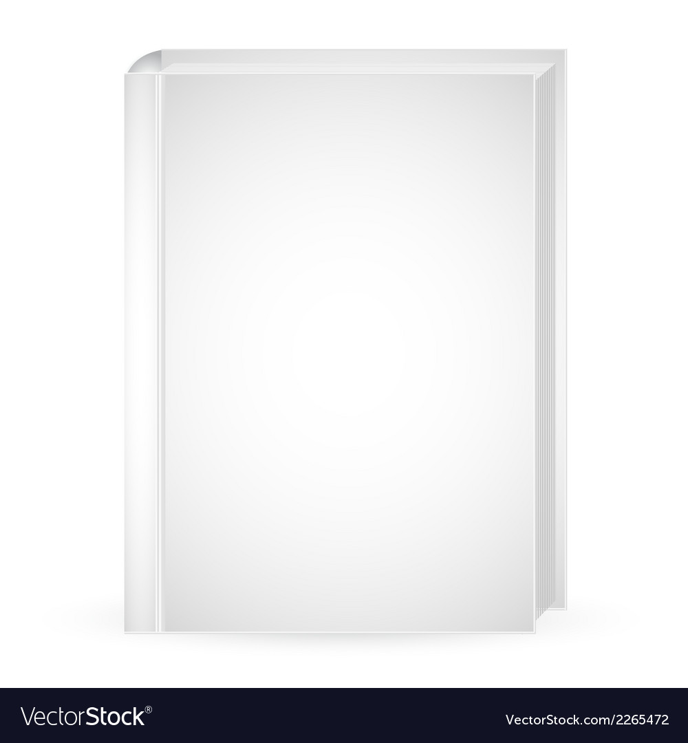 White mock up book vector | Price: 1 Credit (USD $1)