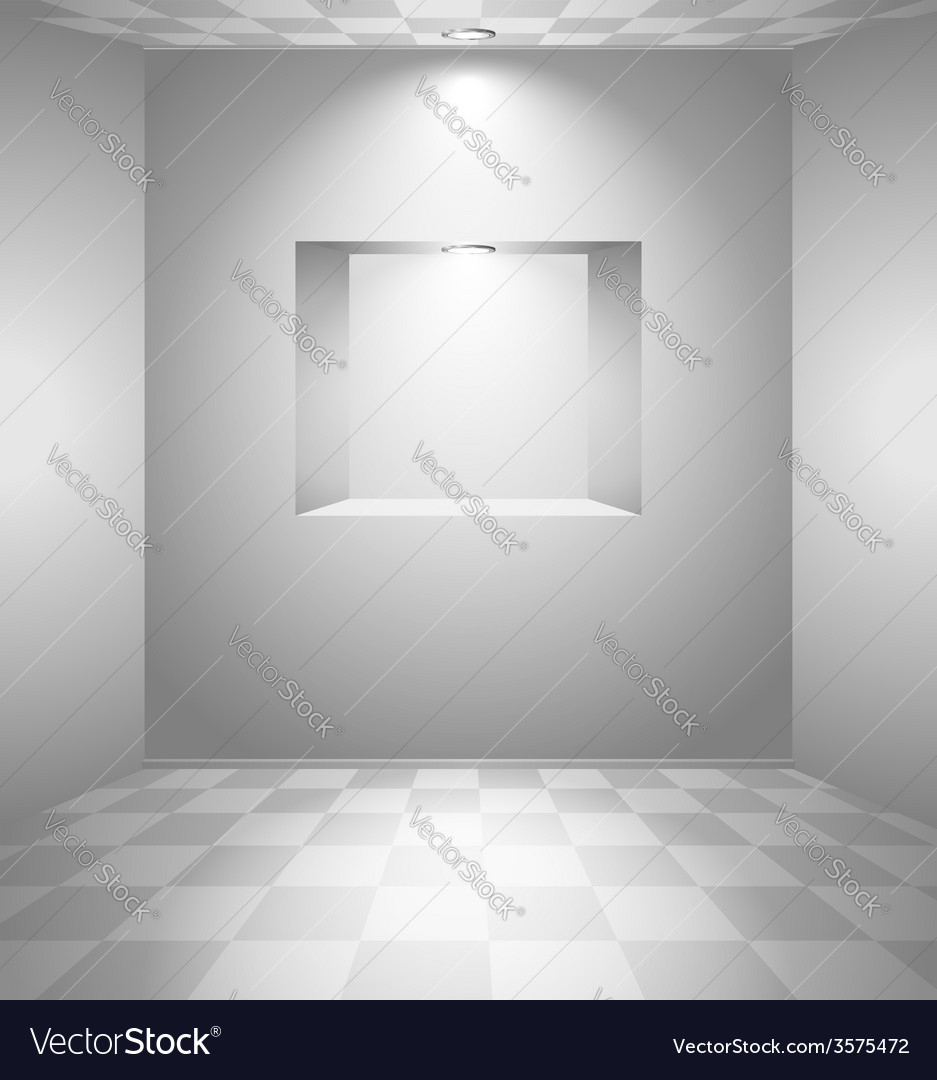 White room with niche vector   Price: 1 Credit (USD $1)