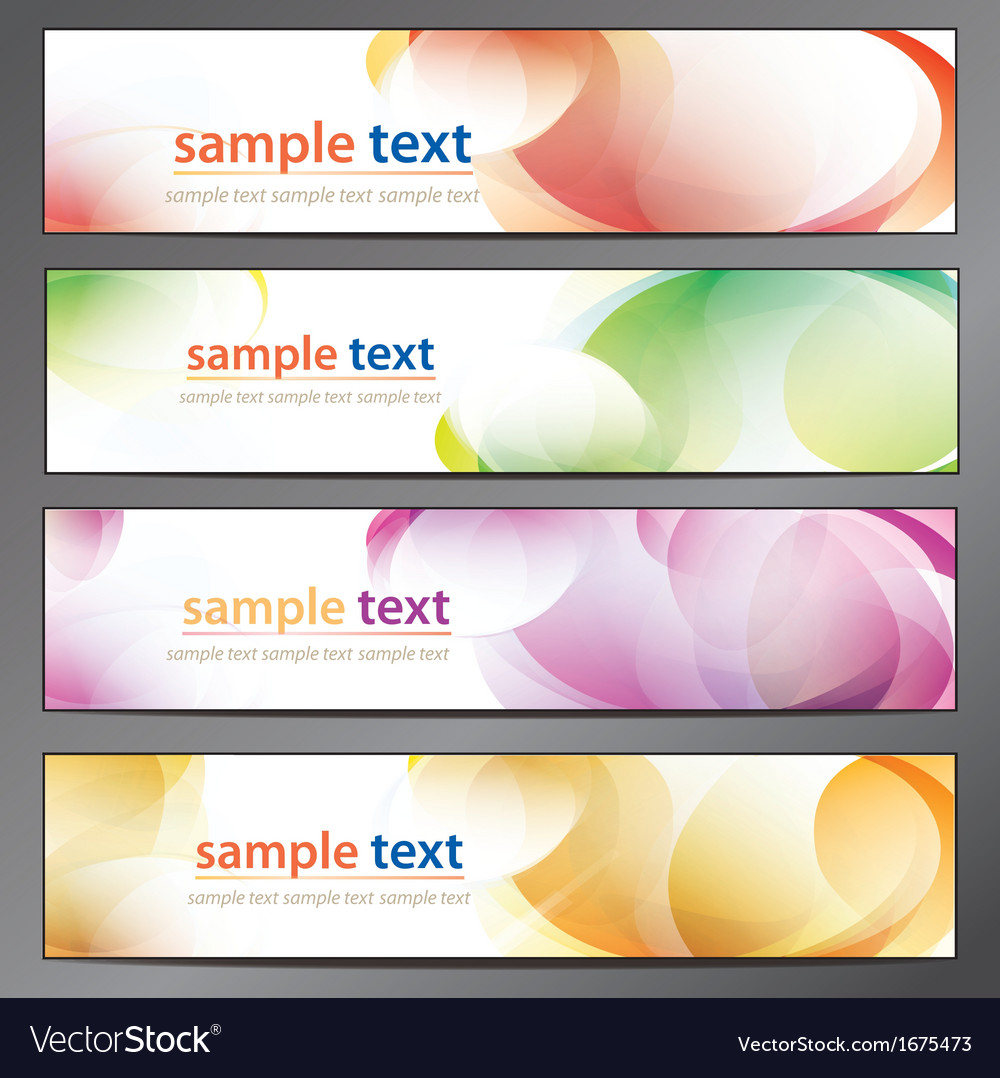Abstract background business banner set vector | Price: 1 Credit (USD $1)