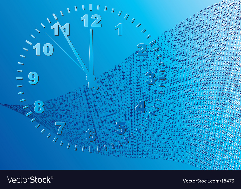 Abstract blue background time vector | Price: 1 Credit (USD $1)