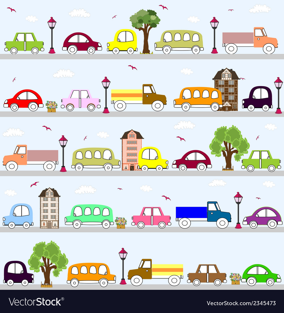 Baby vehicle pattern design vector | Price: 1 Credit (USD $1)