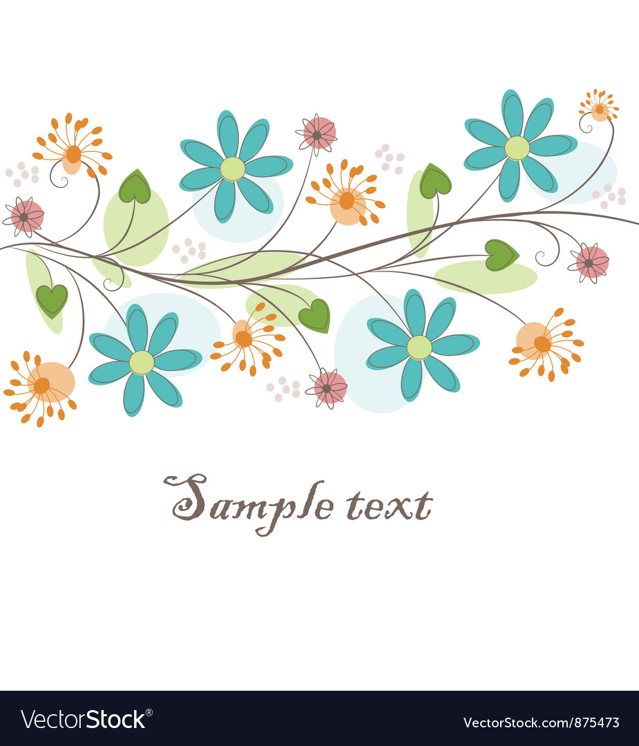 Beautiful floral background vector | Price: 1 Credit (USD $1)