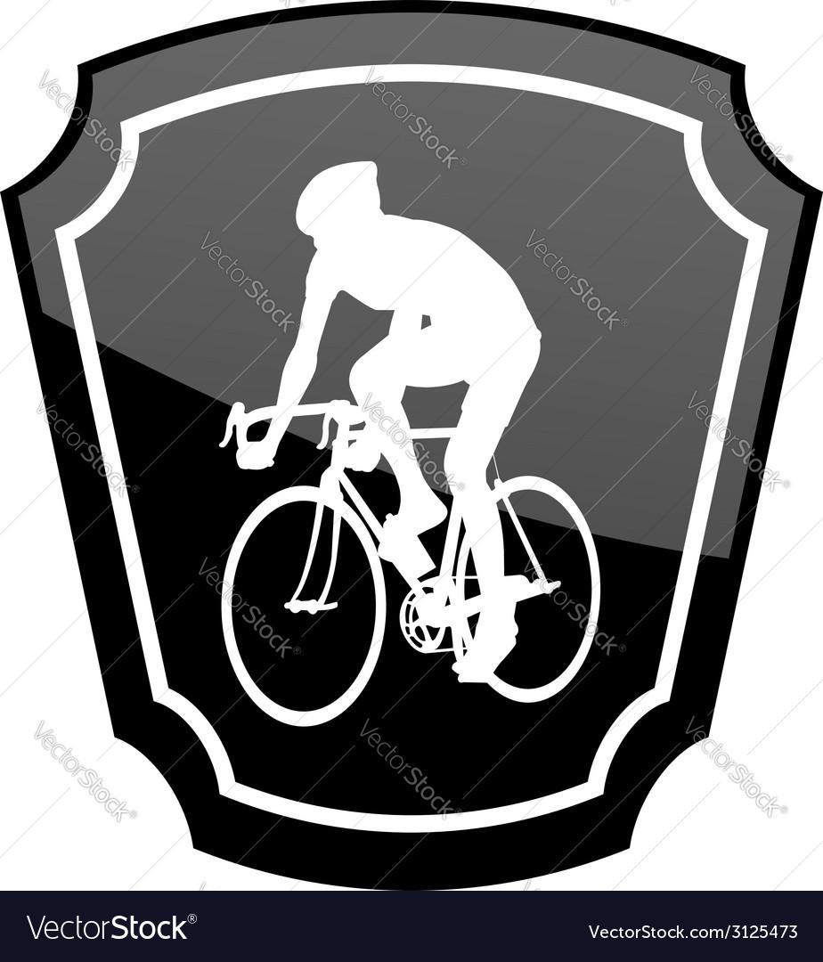 Bicyclist emblem vector | Price: 1 Credit (USD $1)