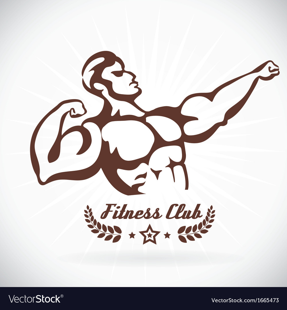 Bodybuilder fitness model vector | Price: 1 Credit (USD $1)
