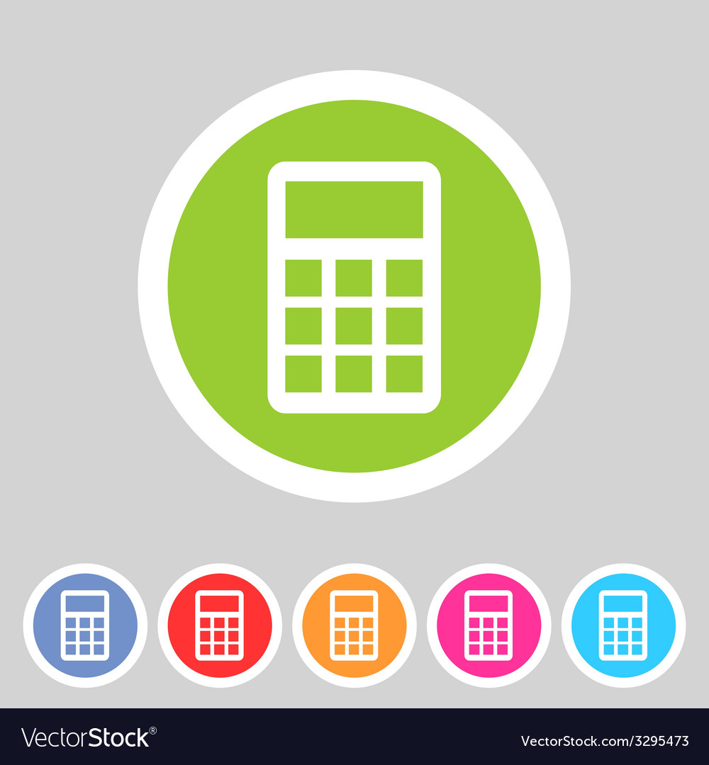 Calculator flat icon vector | Price: 1 Credit (USD $1)