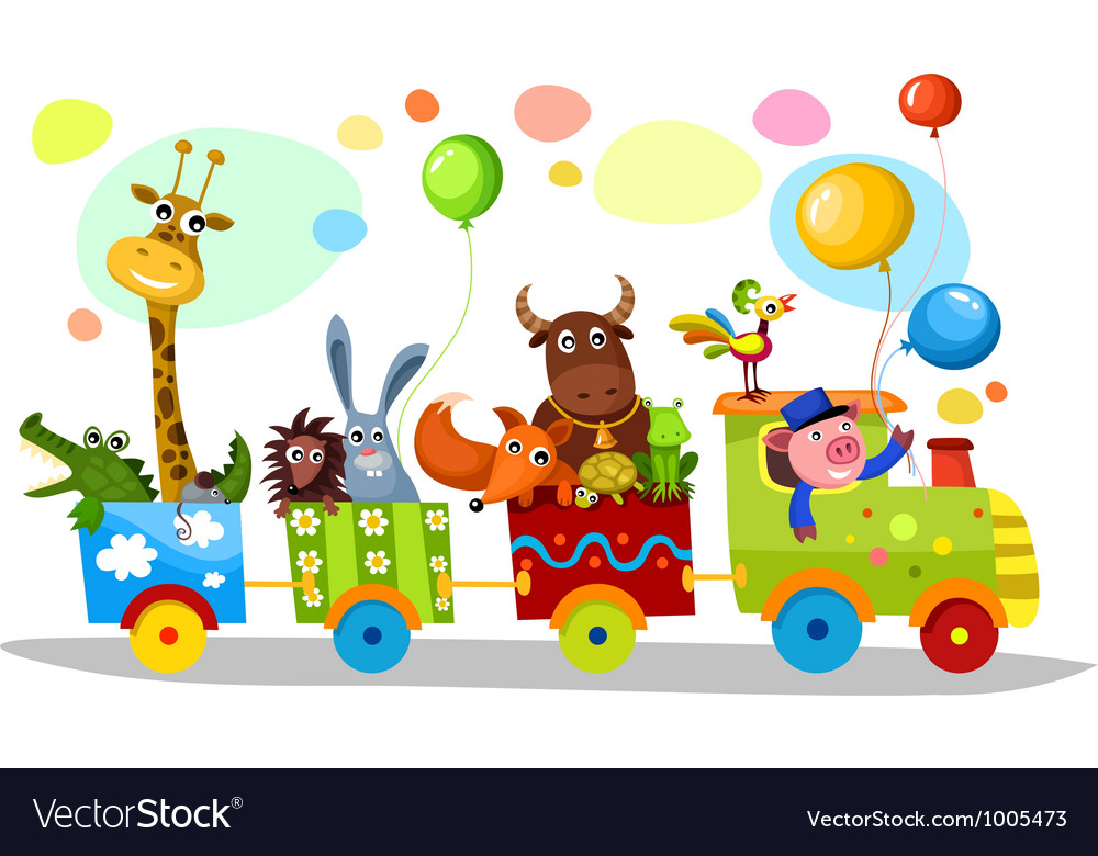 Cute train vector | Price: 3 Credit (USD $3)