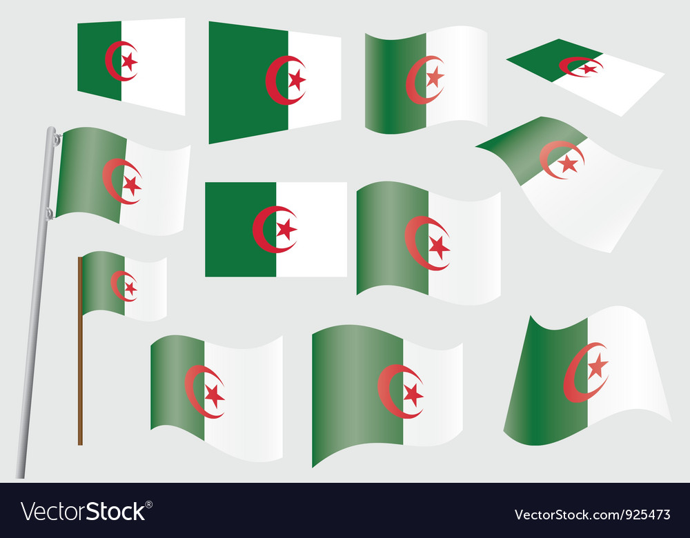 Flag of algeria vector | Price: 1 Credit (USD $1)