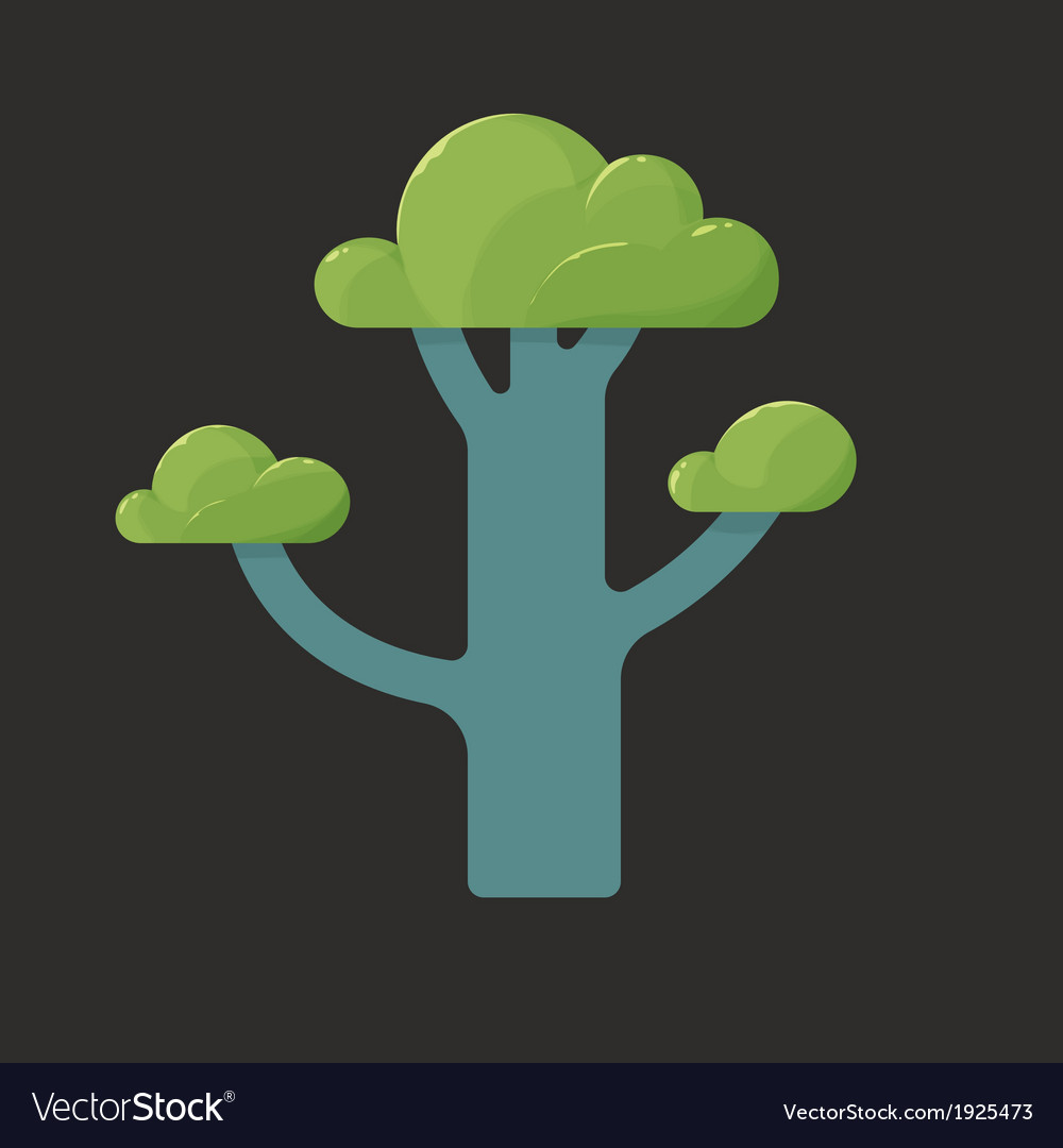 Flat icon of a tree in spring vector | Price: 1 Credit (USD $1)