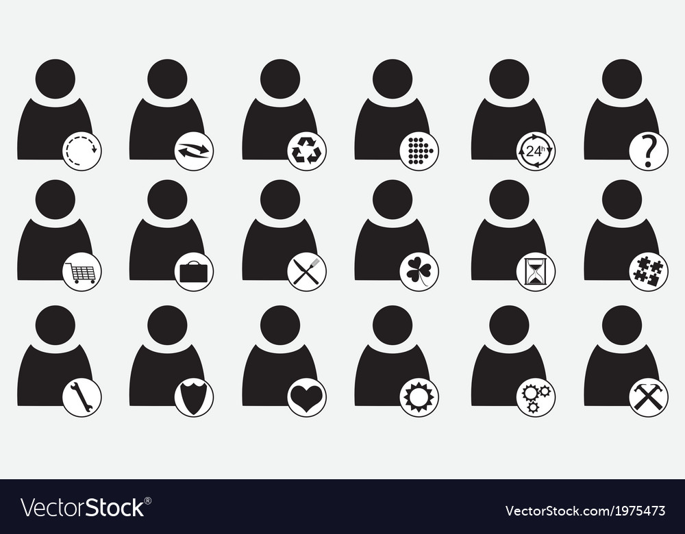 Human icons vector   Price: 1 Credit (USD $1)