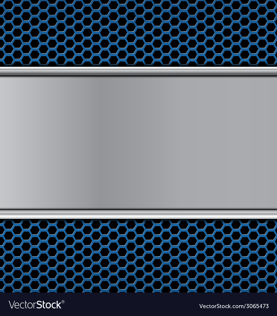 Metal texture on blue vector   Price: 1 Credit (USD $1)