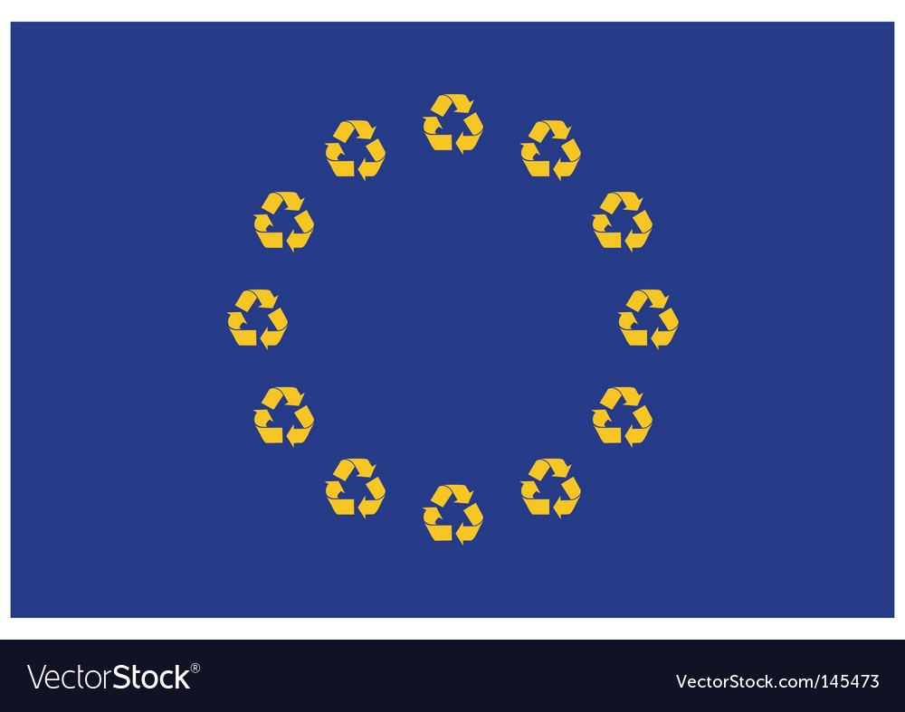 Recycling europe vector | Price: 1 Credit (USD $1)